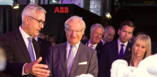 King of Sweden at ABB